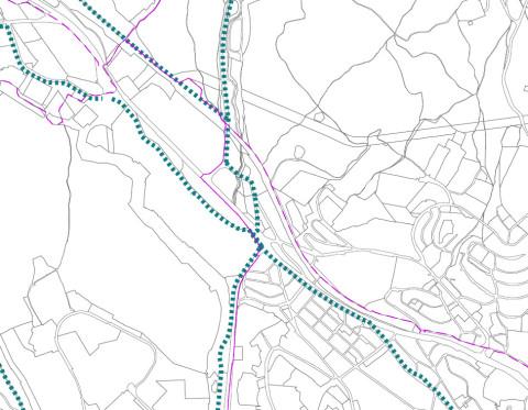 Hlavné cyklotrasy v okolí Patrónky podľa územného plánu