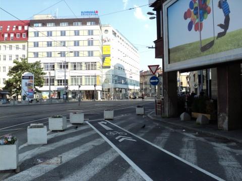 Funkčný cyklopruh v lete 2013