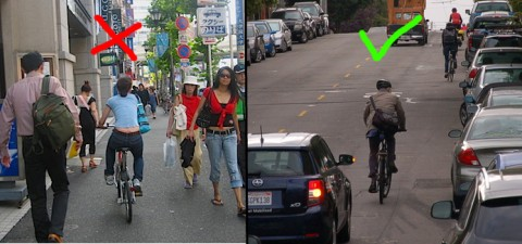 Ak neexistuje cyklotrasa, prosím jazdite po ceste, nie po chodníku a napíšte na cyklo@bratislava.sk, kde vám chýba cyklotrasa.